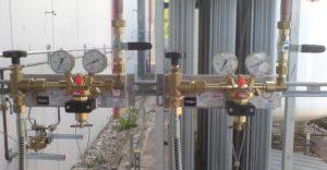 Druckreduzierung vom Verdampfer auf gewünschten Leitungsdruck