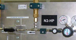 Stickstoff-Hochdruck Verteiler 200Bar